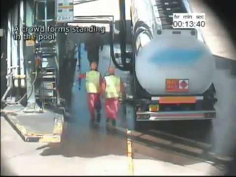 Diesel fuel spill CCTV
