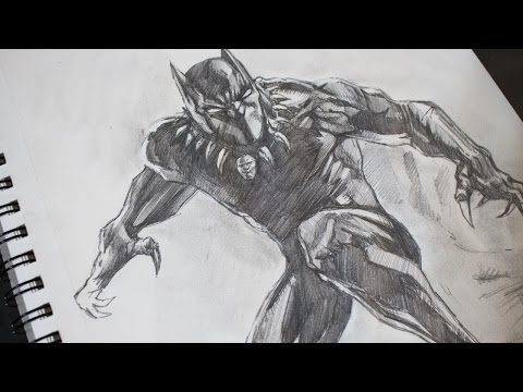 Sketching Black Panther Pencil - Marvel