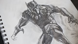 Sketching Black Panther Pencil - Marvel