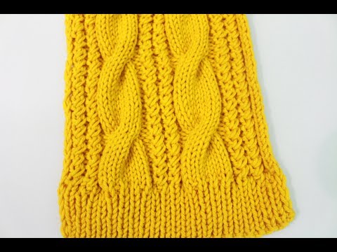 How To Knit A Cable Scarf (Remake)