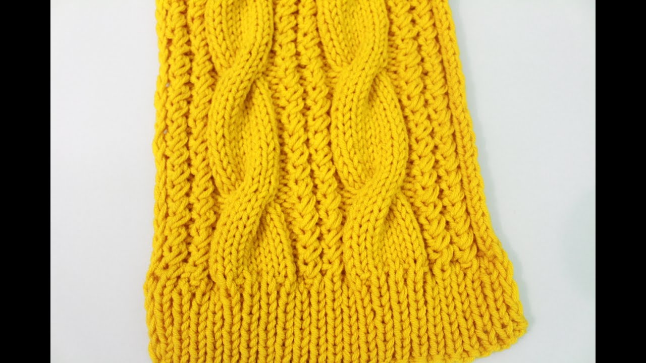 How To Knit A Cable Scarf Remake Youtube
