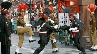 Great India-Pakistan Wagah border Retreating Parade
