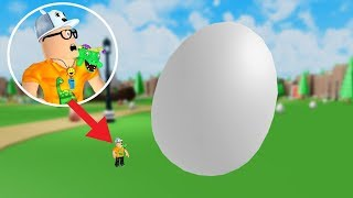 ROBLOX: I FOUND THE BIGGEST EGG IN THE WORLD! WHAT'S IN IT?! -Play Old man