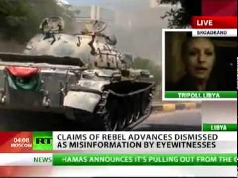 Libya   Breaking News  21 08 2011   rebel advances on Tripoli a fake! Disinformation campaign  RT