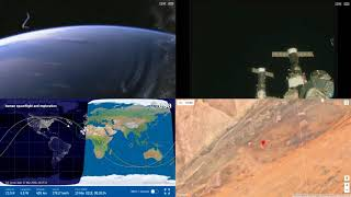 Sunrise Over Africa - NASA/ESA ISS Space Station Livestream With Map - 40 - 2018-03-19