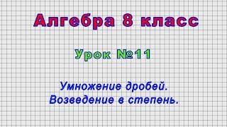 Алгебра 8 класс (Урок№11 - Умножение дробей. Возведение в степень.)