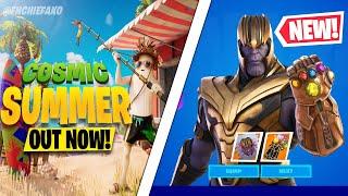 Fortnite Update: NEW Cosmic Summer Celebration TEASER! FREE Thanos Skin TOMORROW! 4th of July Skin!