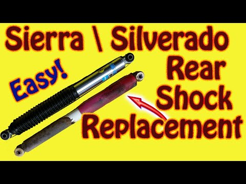 How to Replace Rear Shocks on a GMC Sierra or Chevy Silverado Replace Rancho W\ Bilstein 5100 Series