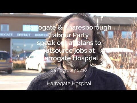 Plans to outsource 300 jobs at Harrogate Hospital