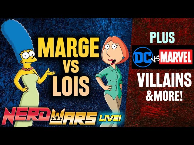 Marge Simpson vs Lois Griffin: Better Wife - Nerd Wars!