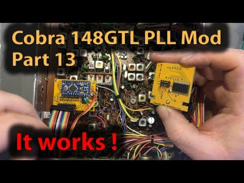 #311 Cobra 148GTL with EP4 Channel Expansion Board - MC145170 PLL Experiments Part 13