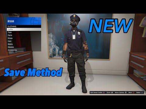 How To Get+Save COP Outfit Glitch On GTA 5 Online