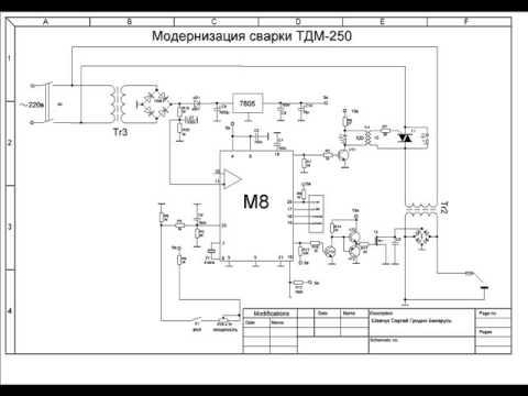 Модернизация сварки ТДМ-250,