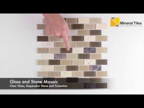 Peel and Stick Tuscany Glass Mosaic Tile- 101CHIGLABPLO2180PS