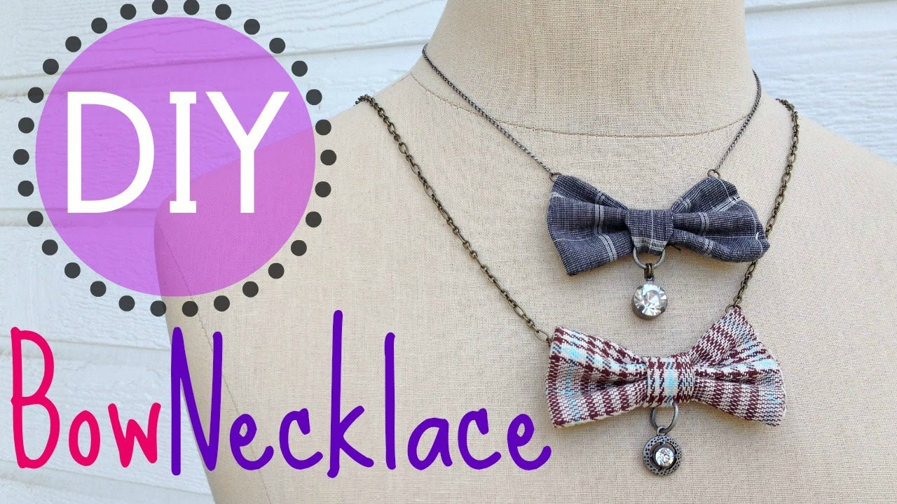 DIY Bow Necklace (EASY)   by Michele Baratta - YouTube