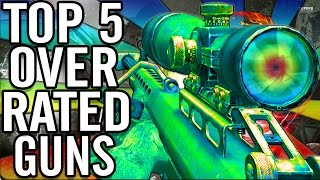 """Top 5"" ""Overrated Weapons""/""Overrated Guns"" in ""Call of Duty WaW/BO/Bo2 Zombies"" ~ ""OFFICIAL"""