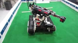 Battle tank model made with lego mindstorm ev3