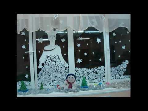 Вытынанки новогодние шаблоны и трафареты на окна 2018