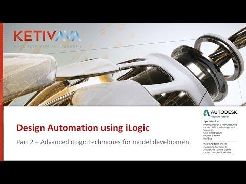 iLogic Design Automation Part 2   Autodesk Virtual Academy