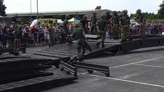 That is how to build a bridge in 7m 56s - 17 SQN 101 Regiment Royal Engineers show how its done.