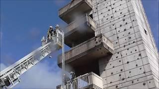 Pompiers de Paris Démonstration incendie Plessis-Clamart 92 ( JPO 2017 )