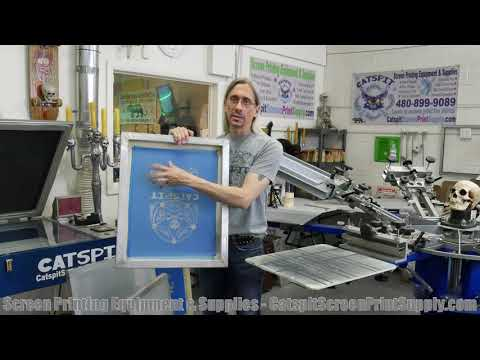 How To Screen Print Tee Shirts: What's The Best Screen Frame Size For Printing Garments?