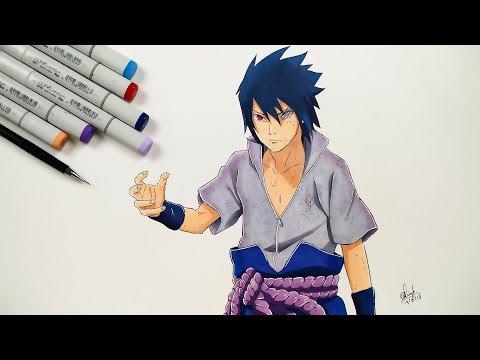How To Draw Sasuke Uchiha Rinnegan - Step By Step (Tutorial)