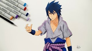 How To Draw Sasuke Uchiha Rinnegan - Step By Step (Tutorial)