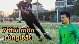 Thử Thách Bóng Đá sút Penalty VS Team thủ môn Bùi Tiến Dũng Nhí mùa tết 2019