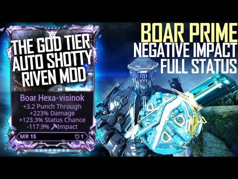 [Warframe] BOAR PRIME RIVEN MODDED [Negative impact full status build] thumbnail
