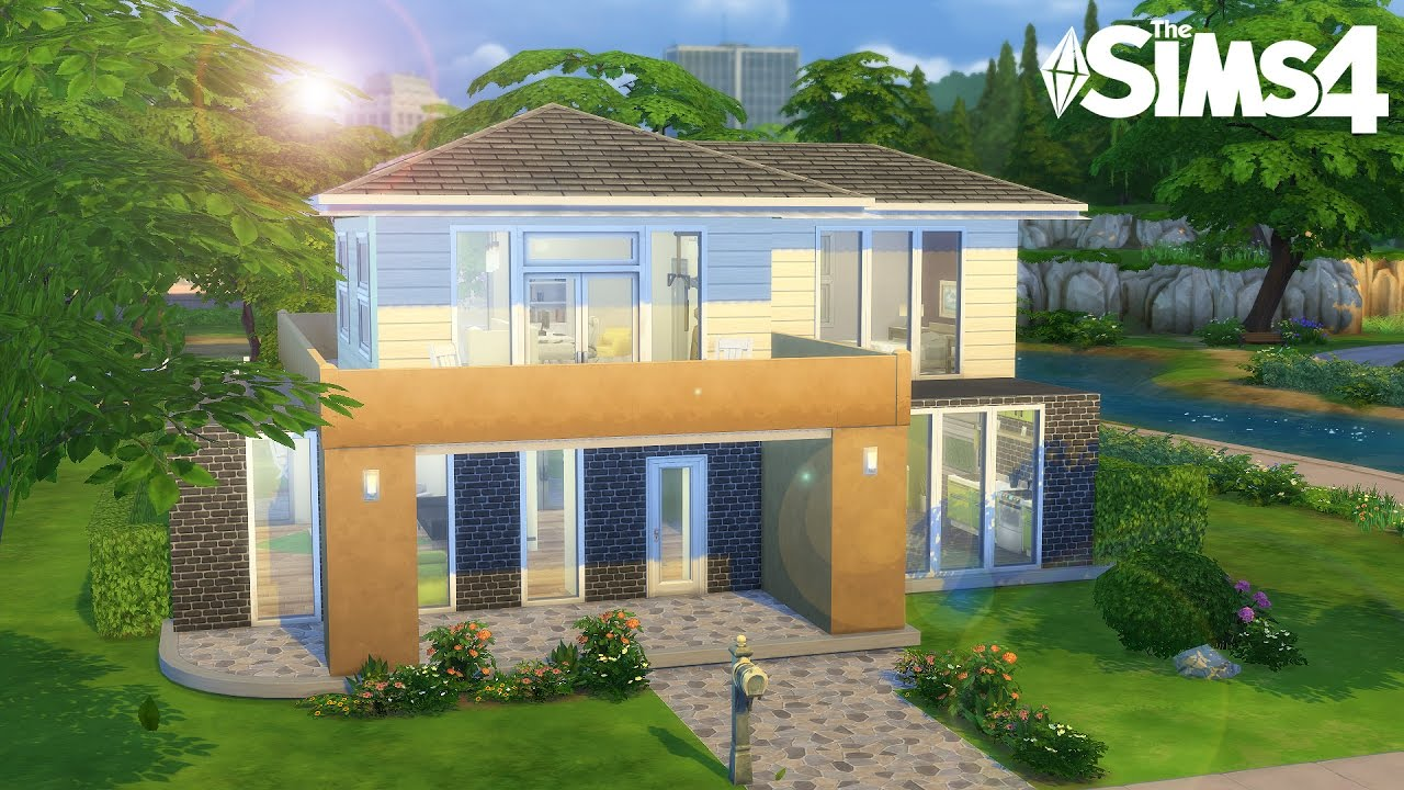 Agreable maison construction sims 4 youtube for Sims 4 idee per la casa