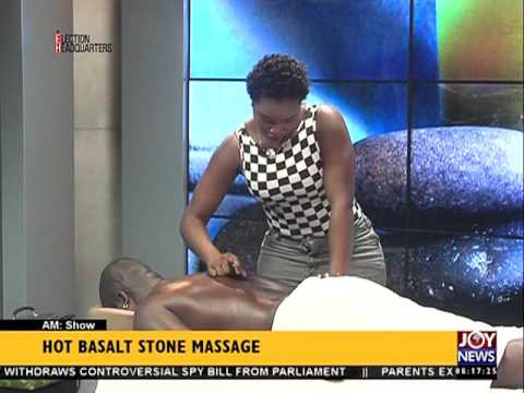 Hot Basalt Stone Massage - AM Show on Joy News (1-7-16)