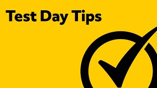 Test Day Tips - Tips to Reduce Test Anxiety