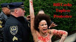 Topless Protester Nicolle Rochelle Calls Bill Cosby A Rapist (2018)