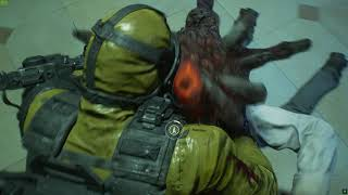 Resident Evil 3 Remake - Carlos Hazmat Parasite Death Scene - GyakuRyona