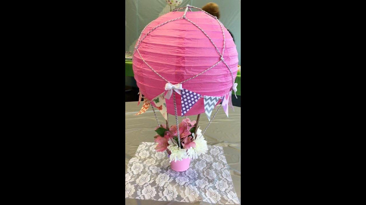 Diaper Girl Wallpaper My Baby Shower Hot Air Balloons Youtube