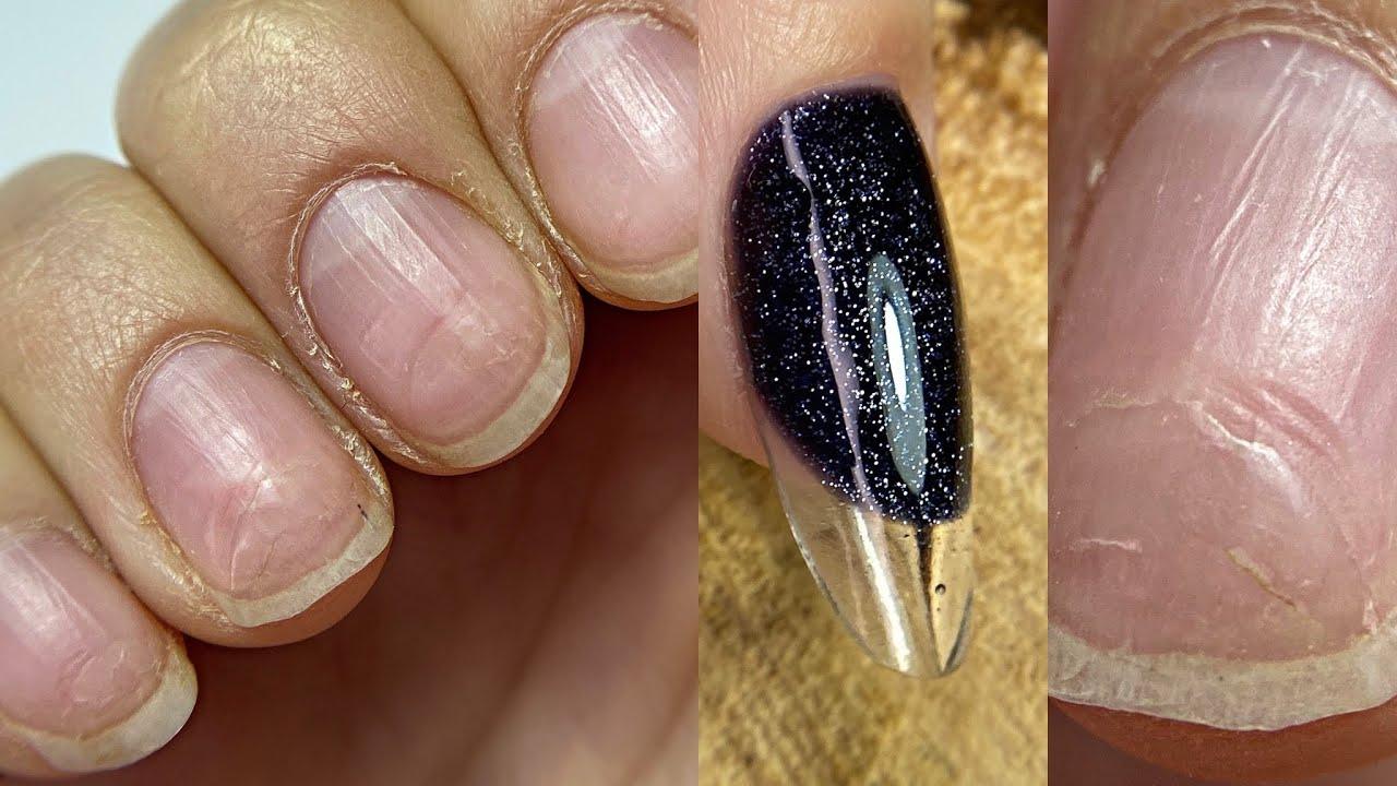 Жуткие ПРОПИЛЫ💅 Маникюр БЕЗ аппарата💅 Как нарастить себе ногти на правой руке