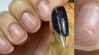 Жуткие ПРОПИЛЫ Маникюр БЕЗ аппарата Как нарастить себе ногти на правой руке
