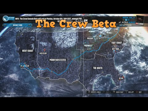 How Big Is The Crew Map The Crew Beta How Big Is The Map MAINE TO L.A.!!! Cross Country
