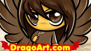 How to Draw Chibi Fang, Fang, Maximum Ride, Step by Step