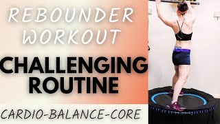 35 MINUTE WORKOUT  | MINI TRAMPOLINE REBOUNDER WORKOUT | BOUNCE FOR HEALTH | BOUNCE FIT |  AFT