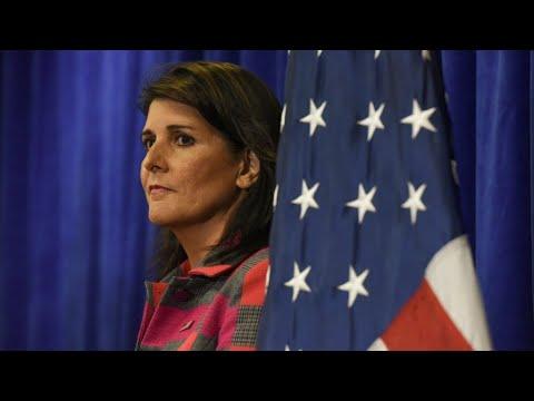 ترامب قبل استقالة سفيرة واشنطن لدى الأمم المتحدة نيكي هايلي