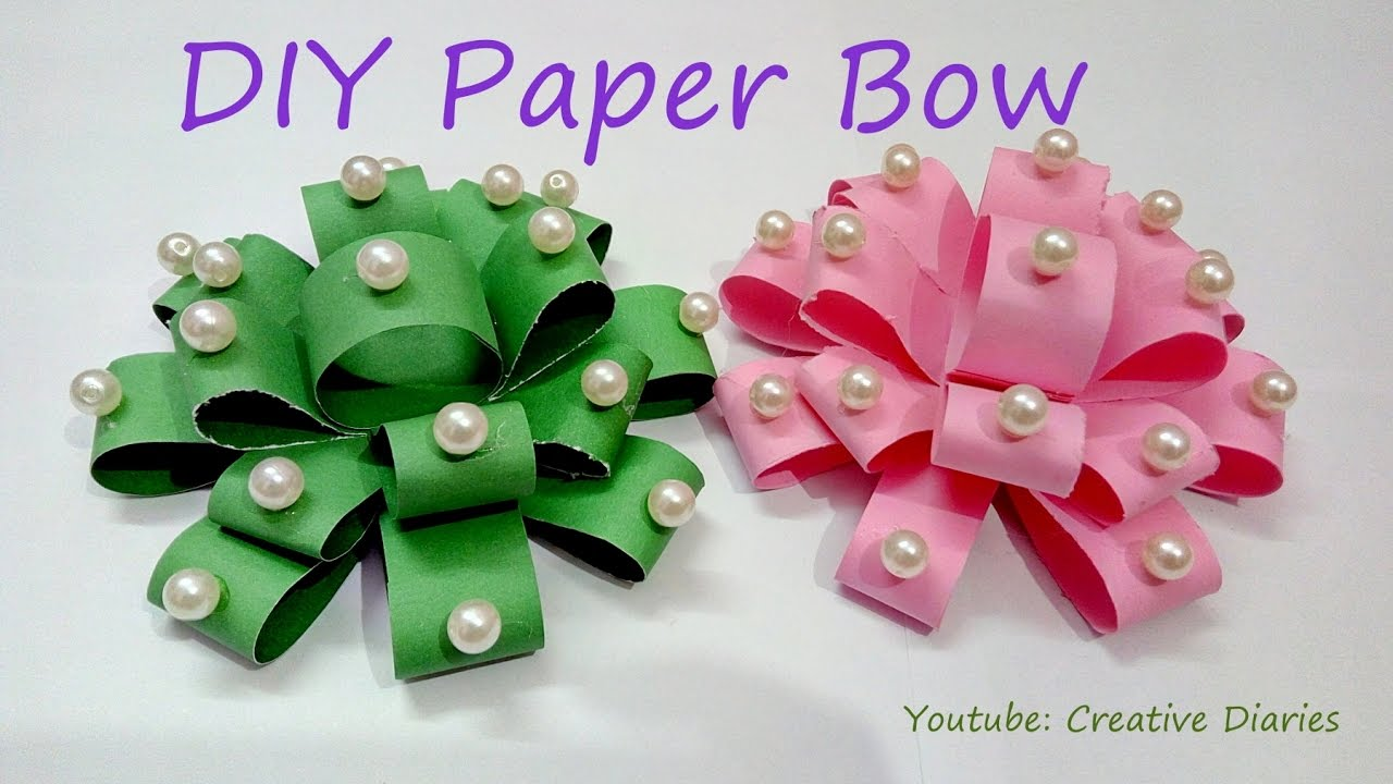 Diy Paper Bow How To Make Paper Bow In Just Few Minutes At Home I