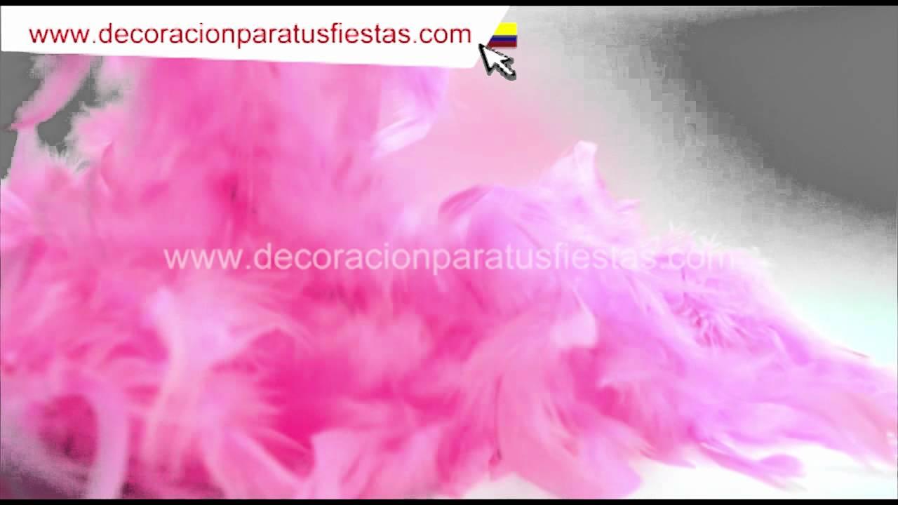 boa de plumas rosada para decoracin de fiestas