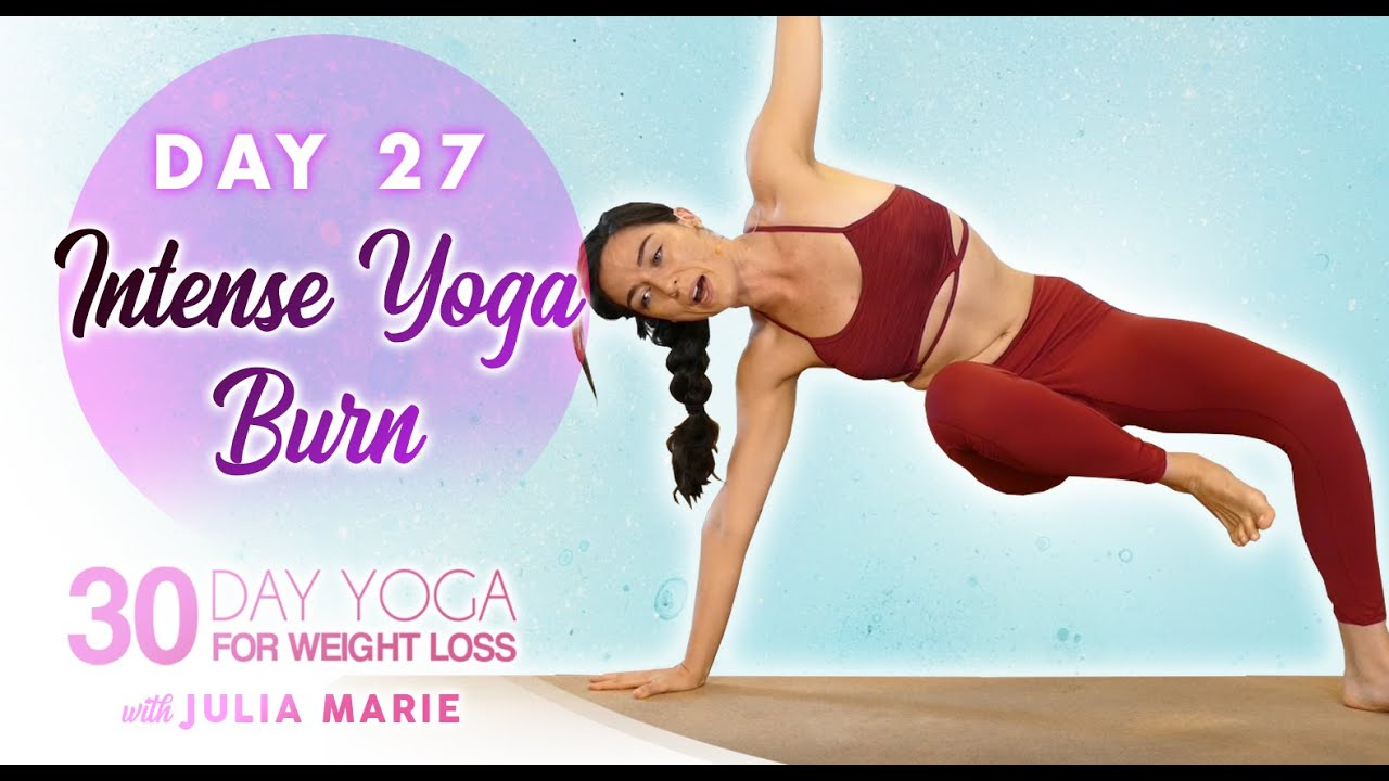 Agility Flow + HIIT Fat Burning Workout | 30 Day Yoga Julia M, Day 27