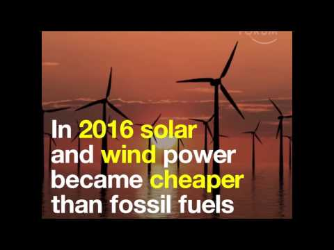 World Economic Forum: In 2016 solar and wind power became cheaper than fossil fuels