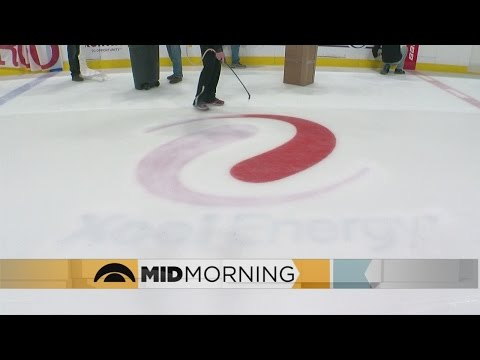 How Does The Xcel Energy Center Change Over Its Ice?