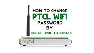 how to change ptcl router wifi password