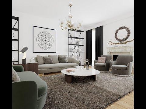 easy living room design Modeling Tutorial in 3ds max + corona render