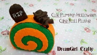 How To Make A Cute Pumpkin Cake Roll Plushie
